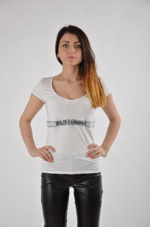 Футболка Dolce & Gabbana. Цвет: белый