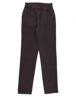 Джинсовые брюки LEE. Цвет: темно-коричневый