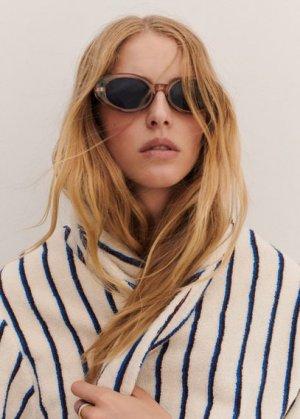 Солнцезащитные очки в прозрачной оправе - Lucia Mango. Цвет: серый