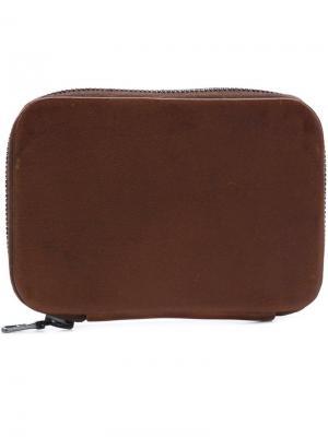 Мини-кошелек на молнии Isaac Reina. Цвет: коричневый