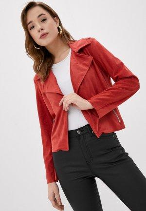 Куртка кожаная Pimkie. Цвет: красный