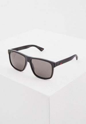 Очки солнцезащитные Gucci GG0010S001. Цвет: черный