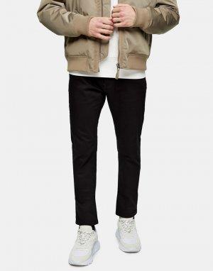 Черные узкие джинсы прямого кроя -Черный цвет Topman