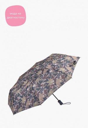 Зонт складной Fulton. Цвет: коричневый