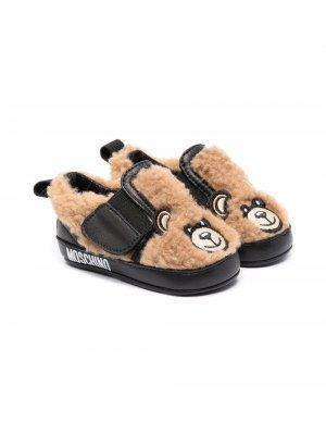Пинетки Teddy Bear Moschino Kids. Цвет: нейтральные цвета