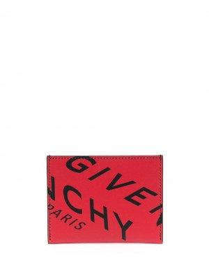 Картхолдер с логотипом Givenchy. Цвет: красный