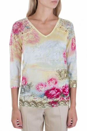 Блуза Leo Guy. Цвет: цветной