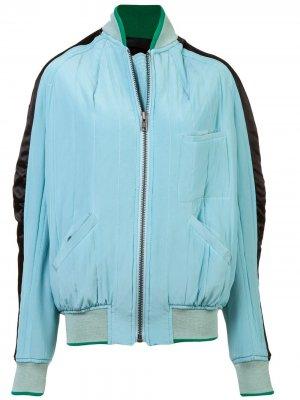 Куртка-бомбер с полосками по бокам Haider Ackermann. Цвет: синий