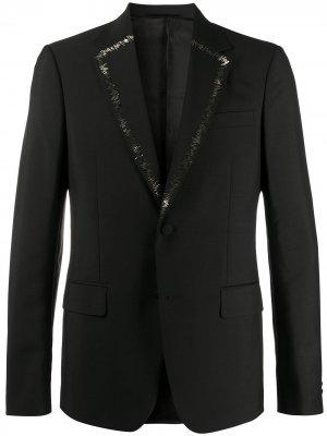Декорированный пиджак Roberto Cavalli. Цвет: черный