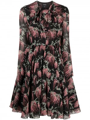 Платье с бантом и цветочным принтом Giambattista Valli. Цвет: черный