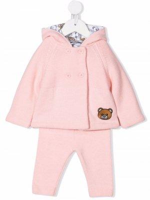 Спортивный костюм с логотипом Moschino Kids. Цвет: розовый