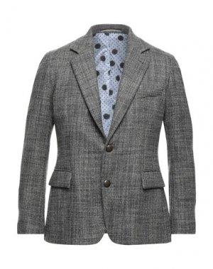 Пиджак MAESTRAMI. Цвет: голубиный серый