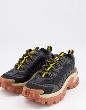 Черные кроссовки на резиновой подошве CAT Intruder-Черный цвет Footwear