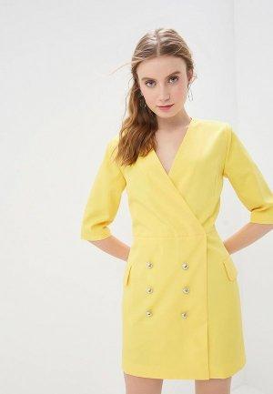 Платье GALOLBO. Цвет: желтый
