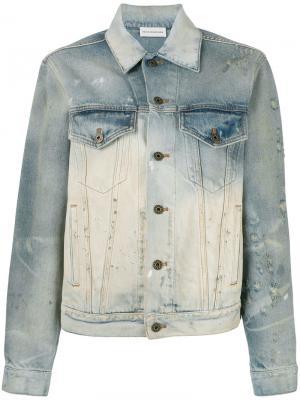 Джинсовая куртка с выцветшим эффектом Faith Connexion. Цвет: синий