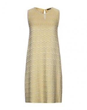 Короткое платье ANTONINO VALENTI. Цвет: желтый