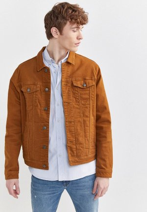 Куртка джинсовая Springfield. Цвет: коричневый