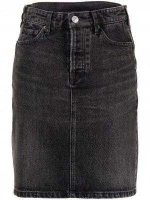 Джинсовая юбка с завышенной талией Balenciaga. Цвет: черный