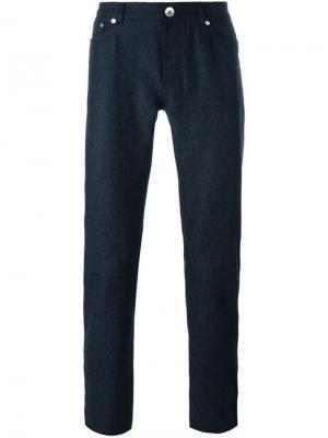 Классические брюки Brunello Cucinelli. Цвет: синий