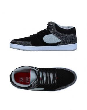 Высокие кеды и кроссовки ÉS. Цвет: черный
