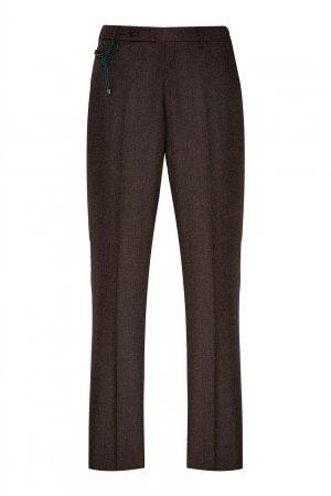 Коричневые классические брюки Berwich. Цвет: коричневый