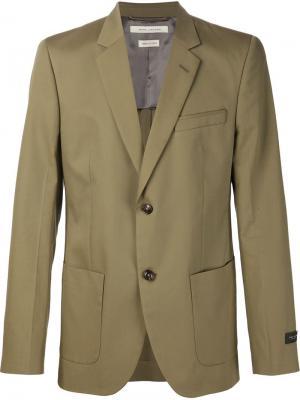 Блейзер Ottoman Stripe Marc Jacobs. Цвет: зелёный