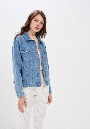 Куртка джинсовая Ostin O'stin. Цвет: синий