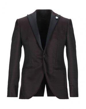Пиджак 1911 LUBIAM CERIMONIA. Цвет: красно-коричневый
