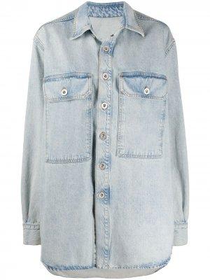 Джинсовая куртка оверсайз с длинными рукавами UNRAVEL PROJECT. Цвет: синий