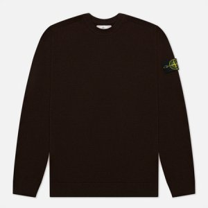 Мужской свитер Classic Ribbed Neck Wool Stone Island. Цвет: коричневый