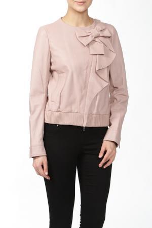 Куртка кожаная Valentino. Цвет: розовый
