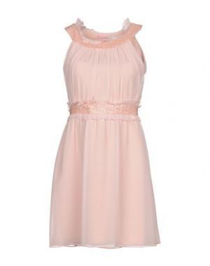 Короткое платье FRANCESCA FERRANTE. Цвет: светло-розовый