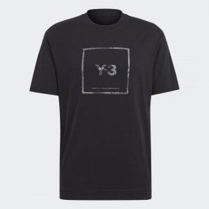 Футболка Y-3 Logo by adidas. Цвет: черный