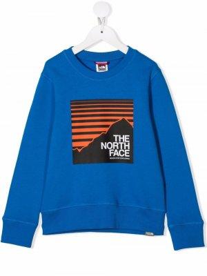 Толстовка с логотипом The North Face Kids. Цвет: синий