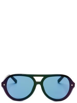 Солнцезащитные очки LINDA FARROW. Цвет: зеленый