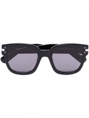 Солнцезащитные очки в квадратной оправе AMIRI. Цвет: черный