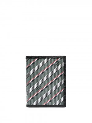 Обложка для паспорта в полоску Thom Browne. Цвет: серый