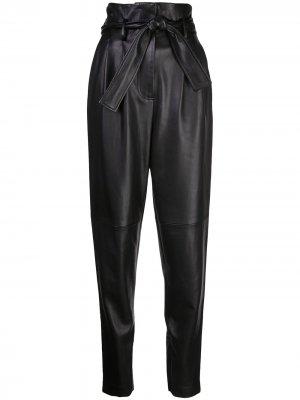 Зауженные брюки с завышенной талией Adam Lippes. Цвет: черный