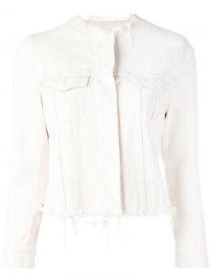 Frayed denim jacket Marquesalmeida Marques'almeida. Цвет: белый