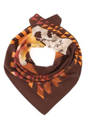 Платок F.FRANTELLI. Цвет: коричневый, оранжевый