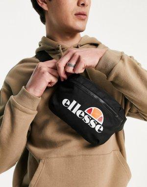 Черная сумка-кошелек на пояс с крупным логотипом -Черный цвет ellesse