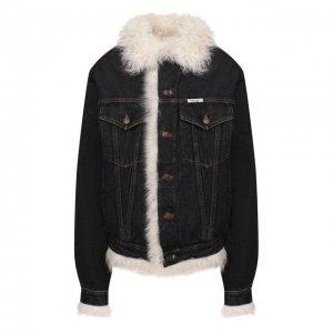 Джинсовая куртка Forte Dei Marmi Couture. Цвет: серый