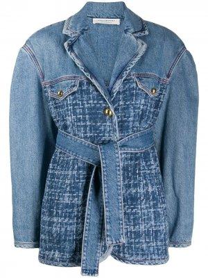 Джинсовая куртка с поясом Philosophy Di Lorenzo Serafini. Цвет: синий