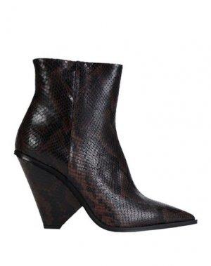 Полусапоги и высокие ботинки GIAMPAOLO VIOZZI. Цвет: какао