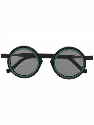 Солнцезащитные очки WL0042 в круглой оправе VAVA Eyewear. Цвет: черный