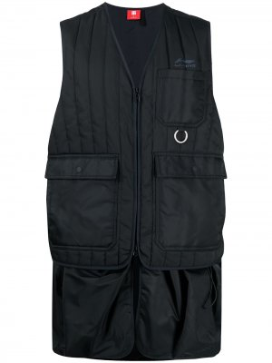 Удлиненный жилет Li-Ning. Цвет: черный