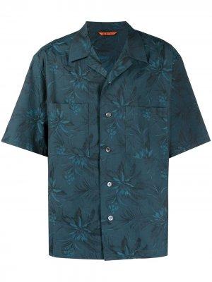 Рубашка с цветочным принтом Barena. Цвет: синий