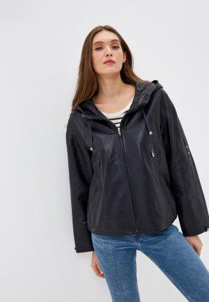 Куртка кожаная Снежная Королева GR1668SS18. Цвет: синий