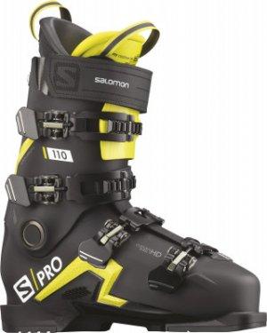 Ботинки горнолыжные S/PRO 110, размер 28 см Salomon. Цвет: черный