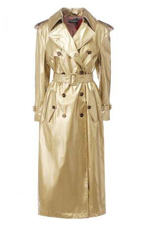 Тренч с поясом Dolce & Gabbana. Цвет: золотой